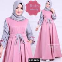 Baju Gamis Muslim Wanita Remaja Kekinian Maxi Dress Murah Terbaru