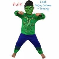 kostum superhero HULK - baju topeng anak laki laki - karakter HULK