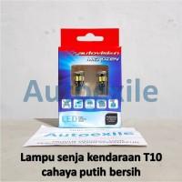 Autovision LED T10 W5W Canbus 5630 10SMD Putih Lampu Senja Motor Mobil