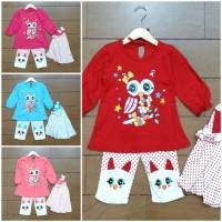 Baju Fashion Pakaian Setelan Gamis Jilbab Anak Bayi Cewek OWL (1-2th)