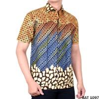 Batik, Kemeja Reguler Pria, Baju Batik Cowok Lengan Pendek Bisa COD