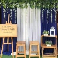 Paket Dekorasi backdrop photobooth lamaran (bunga daun)