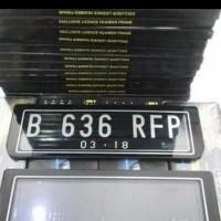 Dudukan plat nomor mobil/Cover Frame akrilik mika non lampu
