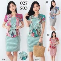 Baju Batik Wanita - Dress Batik Cewek Modern 027 YTO