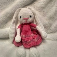Amigurumi/Boneka rajut Bunny in dress (S)