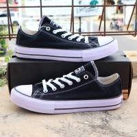 sepatu converse all star low hitam putih