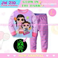 Piyama LOL Purple Glow In The Dark Baju Tidur Anak Perempuan JW 210 L