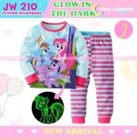 Baju Tidur Anak My Little Pony Blue Glow In The Dark Piyama JW 210 J