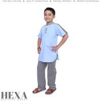 Setelan Baju Koko Muslim Pendek Anak Laki Laki Umur 5 6 7 8 9 10 Tahun