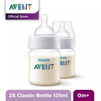 AVENT SCF560/27 Bottle Classic+ 125ml Twin Pack Botol Susu Bayi