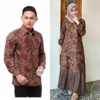 Baju Batik Couple Gamis Rampel Sarimbit Batik Keluarga terbaru