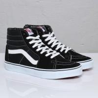 Sepatu Vans Original SK8 HI Black White / Sepatu Skateboard