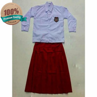 Baju Seragam Sekolah SD Atasan Putih Lengan Panjang Kelas 4,5,6