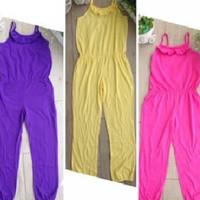 Overall Jumpsuit Playsuit Celana Panjang Wanita Polos Cewek Remaja