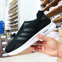 sepatu sneakers adidas neo running hitam abu