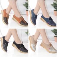 SANDAL WANITA FLAT SHOES Sepatu Wanita Sneakers Tali Docmart Murah