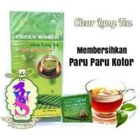 Cuci Gudang Clear Lung Tea Green World . Menghilangkan Kecanduan