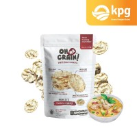 Oh Ma Grain! - Popped Rice Crackers - Chicken Curry - 50gr