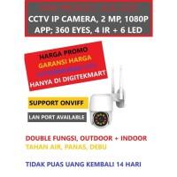 CCTV Wifi Outdoor 1080P 2MP, 4 IR, 6LED, Auto Tracking, ONVIFF 360EYES