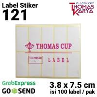 Label 121   Stiker Undangan   Label THOMAS CUP   Label Tom and Jerry