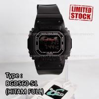 Jam tangan digital pria anak Baby-G Shock BGD-560 Hitam Black digital