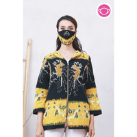 Saka Lurik T062,Baju atasan kerja blouse batik wanita modern nona rara