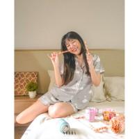 Swan Princess Set Pajamas Baju Tidur Piyama Wanita JP251 / JP252