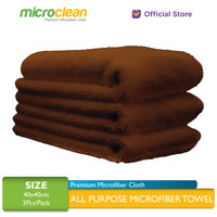 3pcs Microclean Microfiber Cloth Size 40x40 Brown