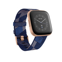 Fitbit Versa 2 Special Edition Health and Fitness Smart Watch - Navy Pink Woven