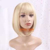 Wig bob blonde / Wig pendek lurus / Wig Cosplay/ Rambut Palsu full