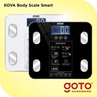 Kova BMI Timbangan Badan Digital Body Fat Mass Monitor Analysis 180 Kg - Hitam