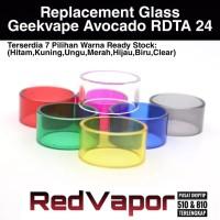 Replacement Glass Avocado 24mm RDTA 7 Warna Ready Stock