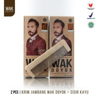 Paket Wak Doyok Cream 2pcs 75ml + 2pcs Sisir - Original Hologram