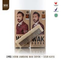 Paket Wak Doyok Cream 2pcs 75ml + 1pcs Sisir - Original Hologram