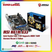 Motherboard MSI H81M-E33 Promo Gaming Murah