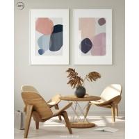 Lukisan Dinding Set - Wall Decor - Art Print - Graphic Pastel