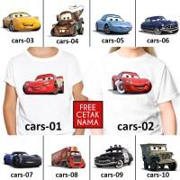 [ FREE NAMA ] Baju Kaos custom CARS ANAK DAN DEWASA couple