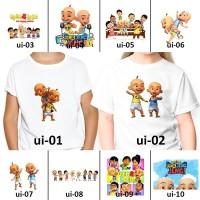 [ FREE NAMA ] Baju Kaos custom UPIN IPIN ANAK DAN DEWASA couple
