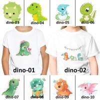 [ FREE NAMA ] Baju Kaos custom DINO DINOSAURUS ANAK DAN DEWASA couple