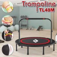 trampolin dengan pegangan MODEL TL-48M 122cm, dapat dilipat