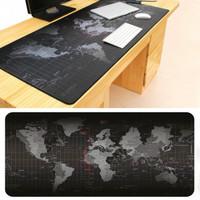 Tatakan Mouse Laptop Gambar Peta Mouse Pad Besar Aksesoris Komputer