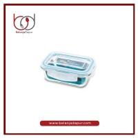 Bros Oven Glass Container Rectangular 400 ML / Tempat Makan premium