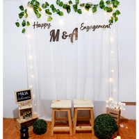 Dekorasi Lamaran Backdrop Nikahan PhotoBooth DIY Paket Pesta Mulia C - Sesuai Gambar