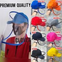 Topi Corona Dewasa Topi Baseball cap dengan face shield