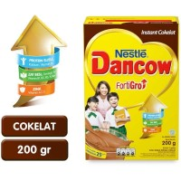 DANCOW FORTIGRO INSTAN COKLAT/ INSTANT/ FULL CREAM 200g