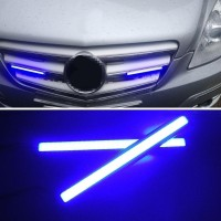 1PC LAMPU LED KOLONG COB PLASMA DRL 17CM ICE BLUE PUTIH MOBIL MOTOR