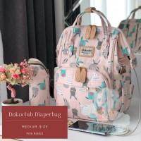 A // Dokoclub Diaper Bag - Medium Luxe Series ( PINK RABBIT )