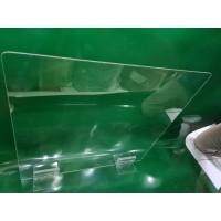 Partisi pembatas/sekat akrilik/pelindung meja 2mm x 80cm x 40cm