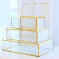 Rectangle Brass & Glass Box