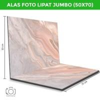 Alas Foto Lipat Jumbo Marmer Pink 50x70 cm / Background Foto (MLJ-05)